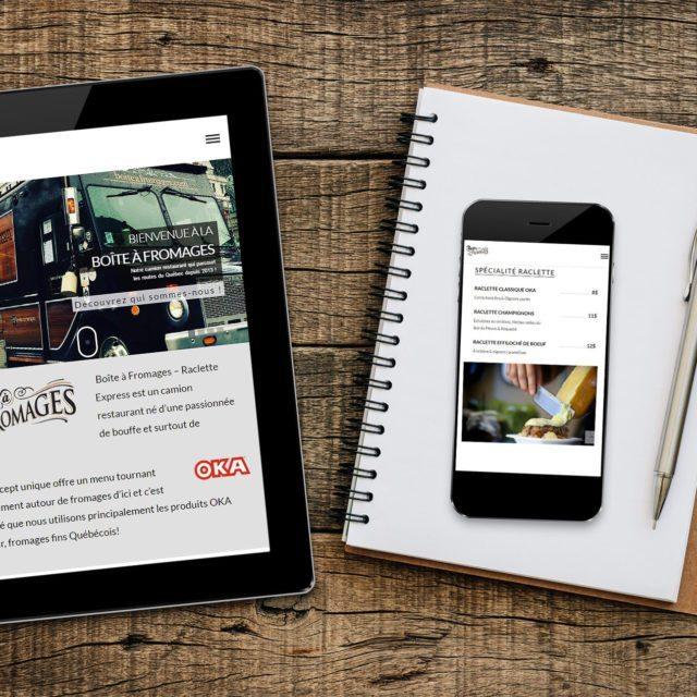 Site Web – La Boîte à Fromages