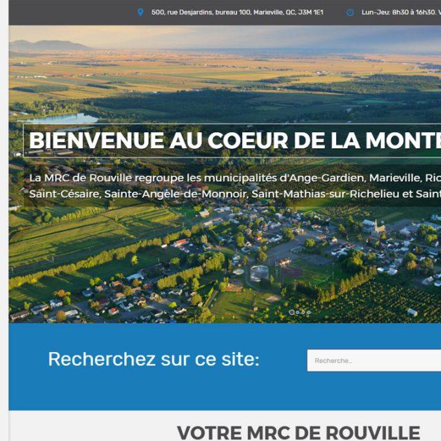 Site Web – MRC de Rouville