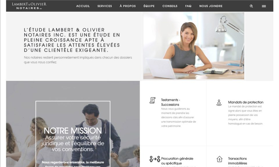Site Web – Lambert & Olivier Notaires