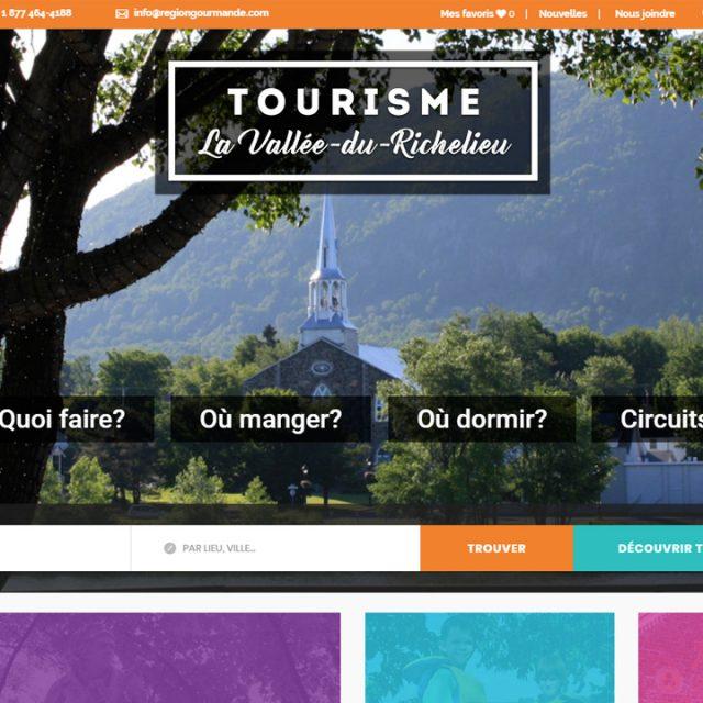 Site Web – Tourisme La Vallée-du-Richelieu
