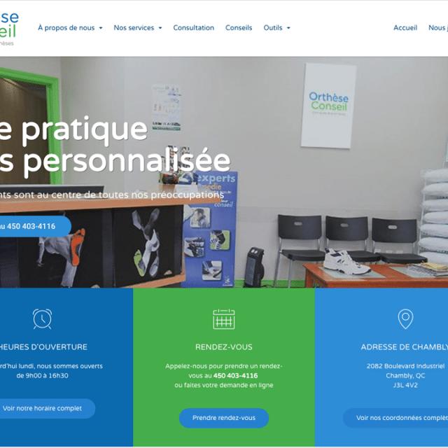 Site Web – Orthèse Conseil