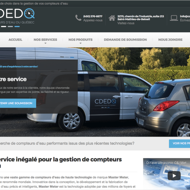 Site Web – Compteurs d'eau du Québec