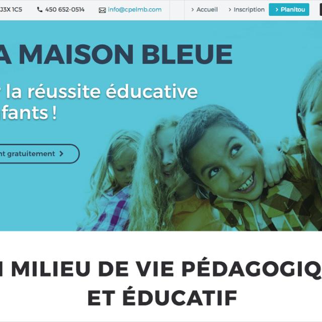 Site Web – CPE La Maison Bleue