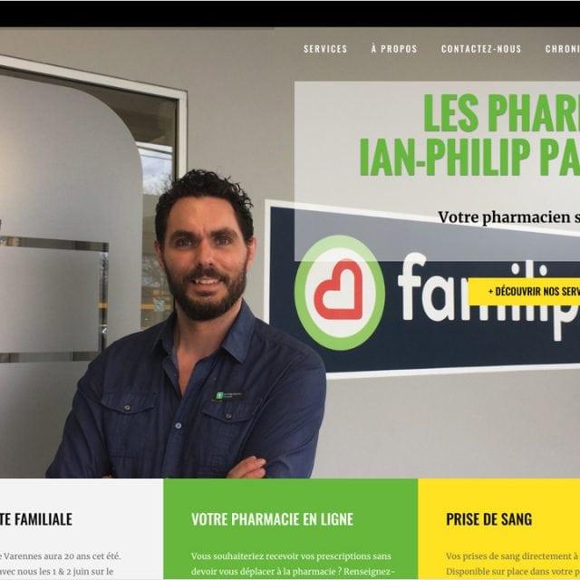 Site Web – Pharmacie Ian-Philip Paul-Hus