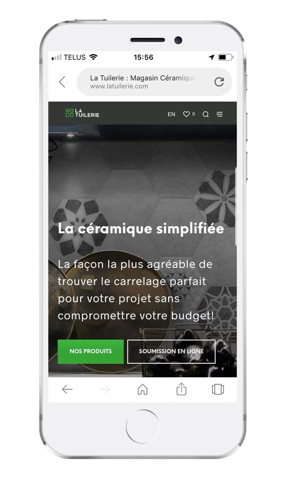 Site mobile La Tuilerie