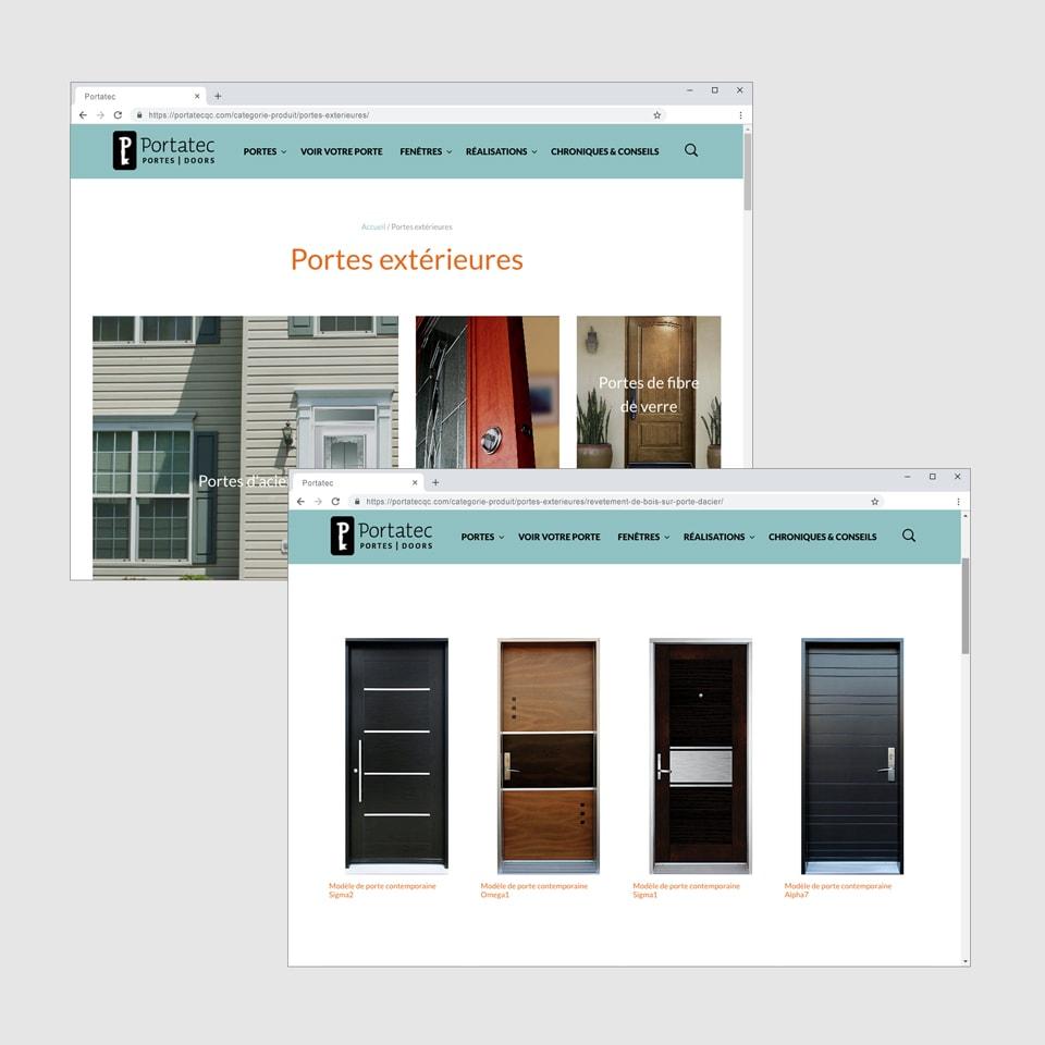 Site web pages Portatec