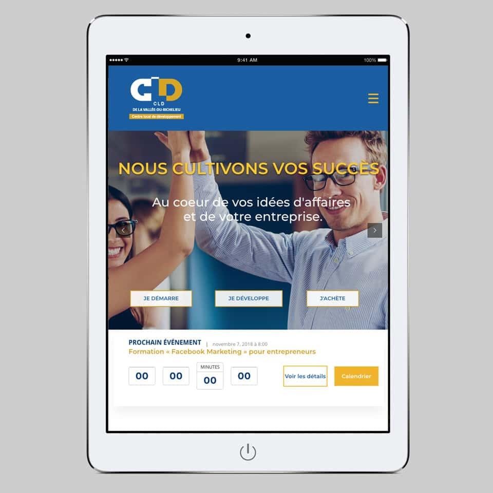 Site web CLDVR (Centre local de développement de La-Vallée-du-Richelieu)