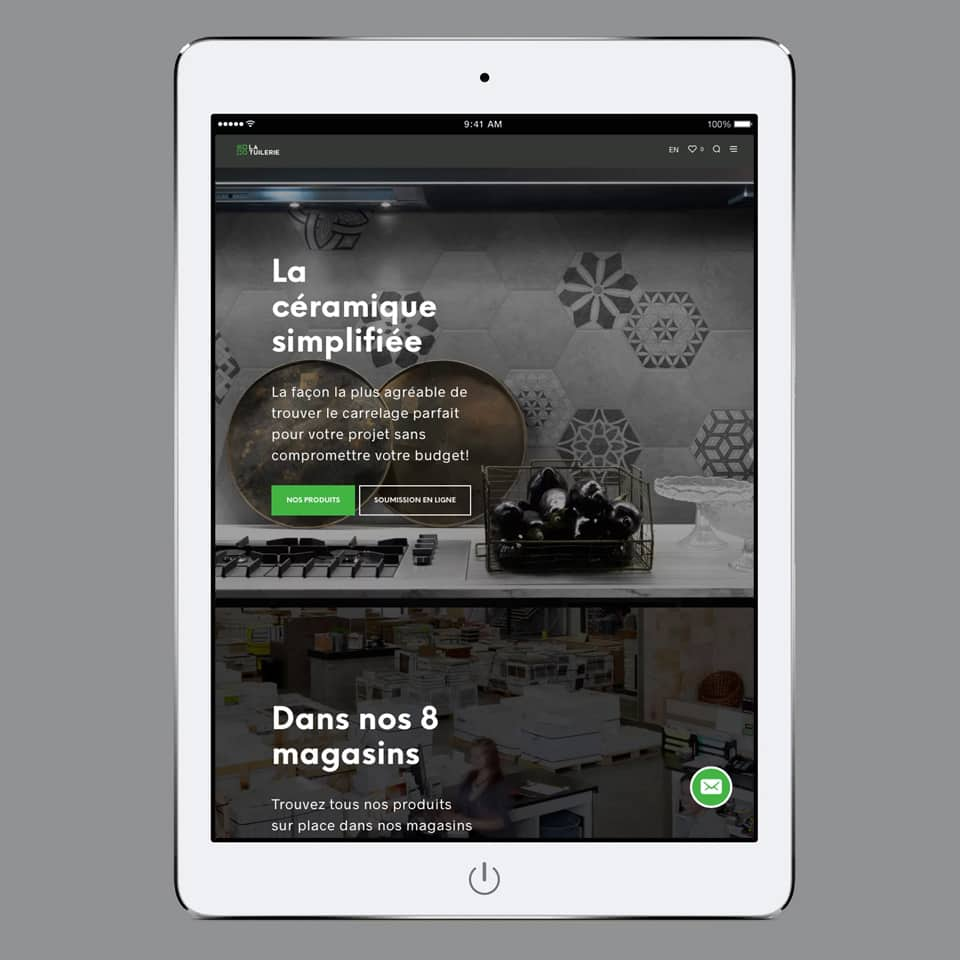 Site tablette La Tuilerie