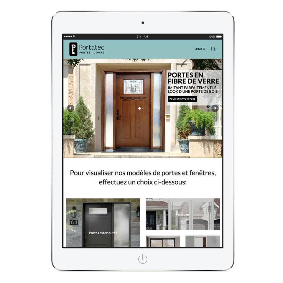 Site web tablette Portatec