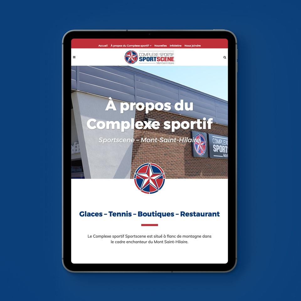 Site web tablette Sportscene