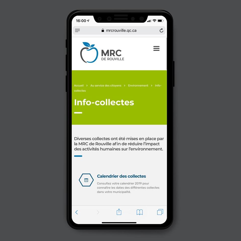 Site web mobile MRC de Rouville