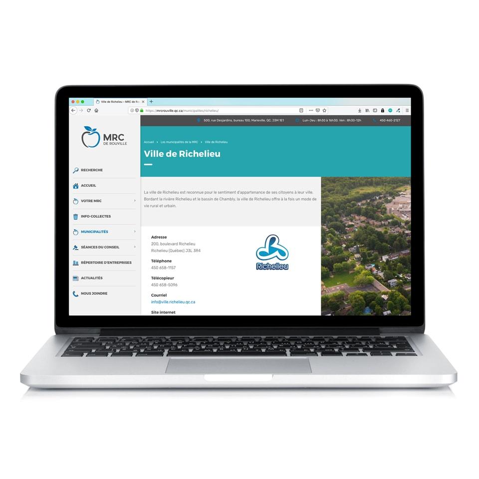 Site web MRC de Rouville