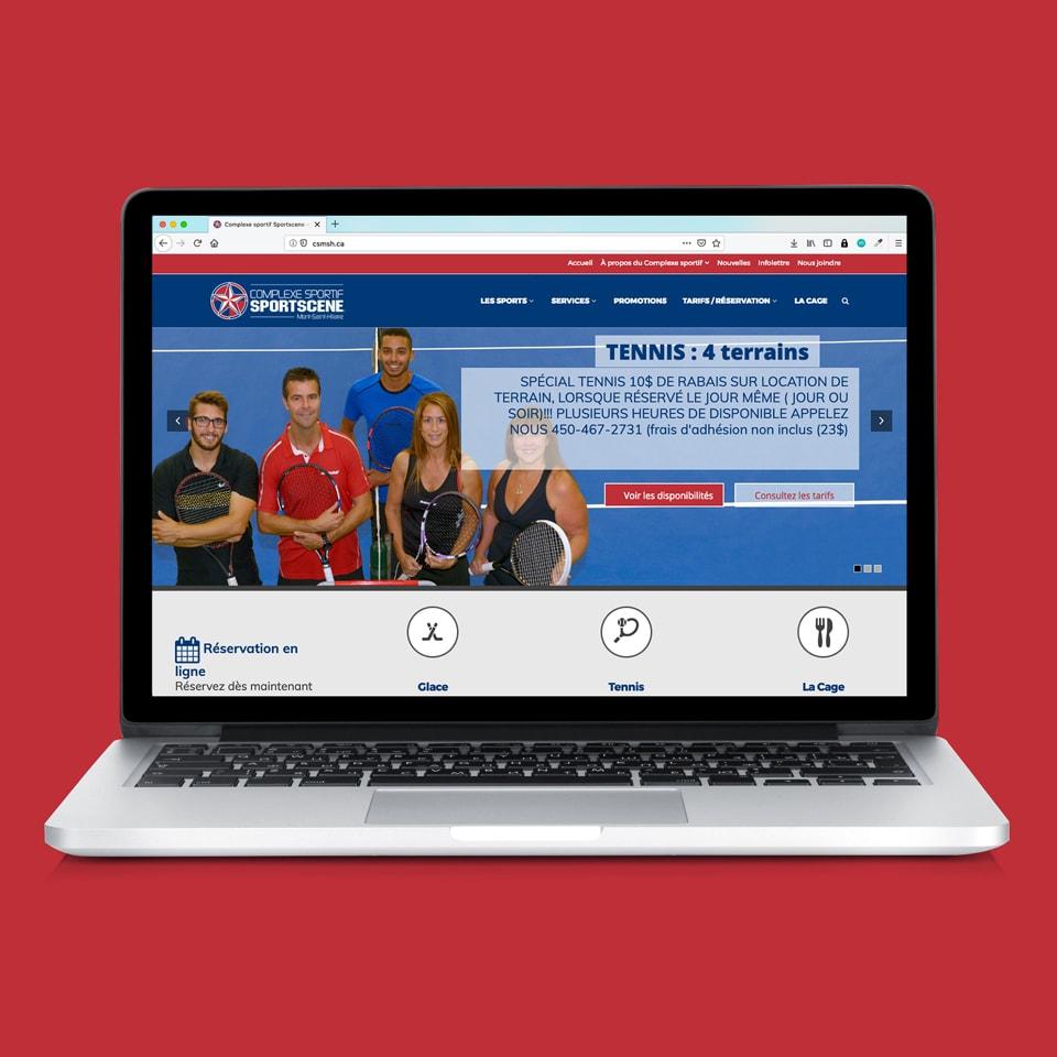 Site web Sportscene