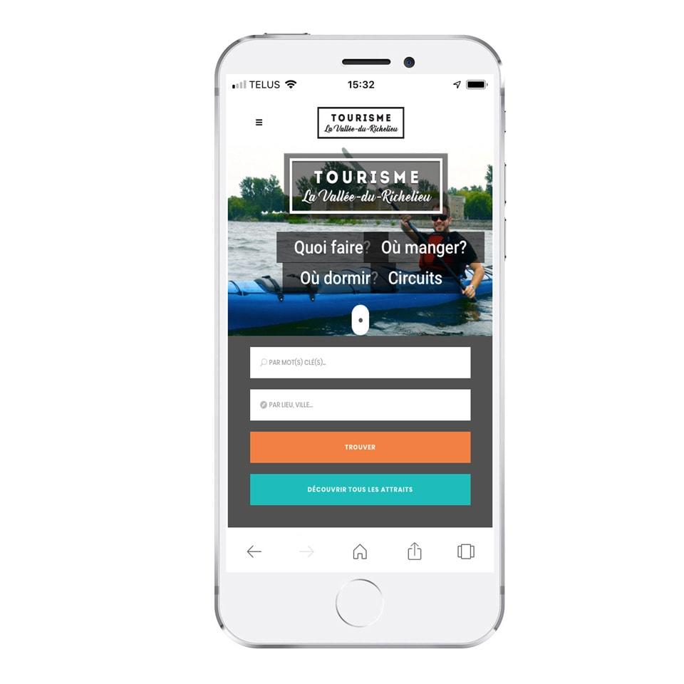 Site Web mobile Tourisme La-Vallée-du-Richelieu