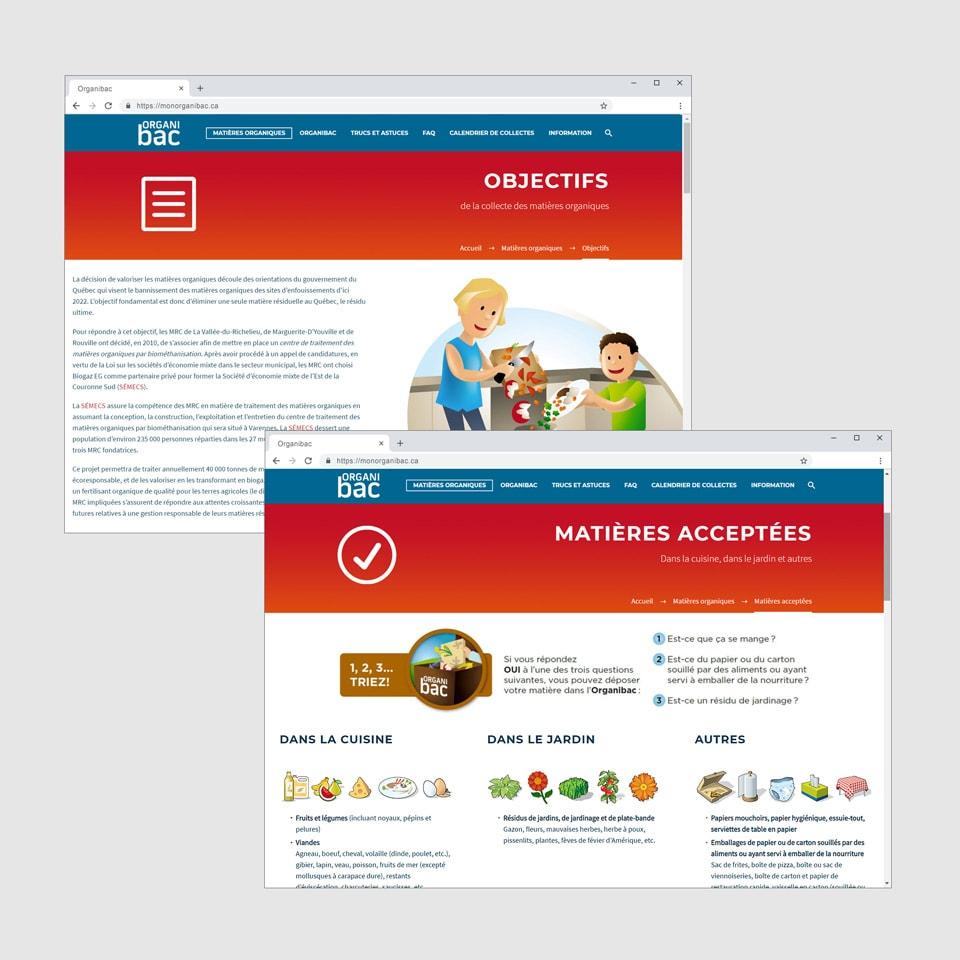 Site Web Organibac