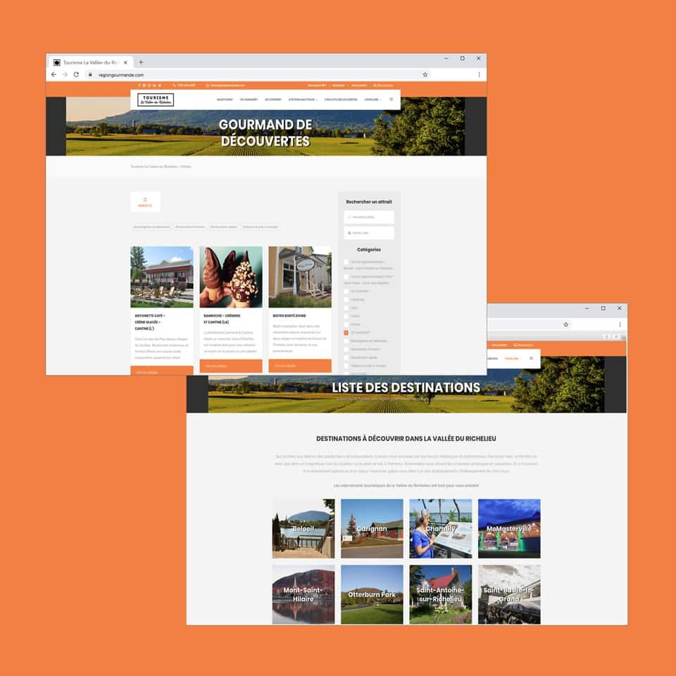 Site Web navigation Tourisme La-Vallée-du-Richelieu