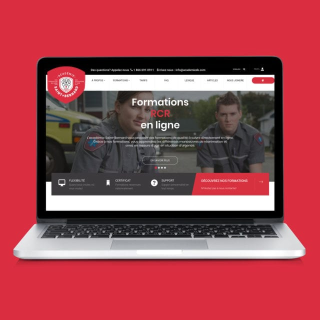 Site Web – Académie Saint-Bernard